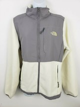 The North Face White Gray Full Zip Women's Fleece Jacket Size L - $49.27