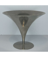 Mid Century Modern Arthur Salm Nickle Plated Silhouette Compote Bowl Dish - $24.70