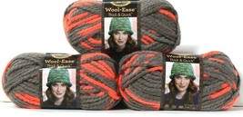3 Lion Brand Wool-Ease Thick & Quick 512 Monarch 6 Super Bulky Washable Yarns - $18.99