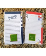 kate spade New York 2 Refrigerator Notepads/Pencil Pretty Pantry & Orde... - $21.98