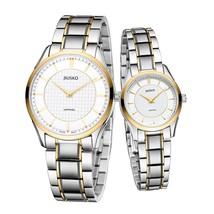 JIUSKO Men & Women Tungsten Steel Bracelet Slim Quartz Dress Watches - AU1TTW - $350.10