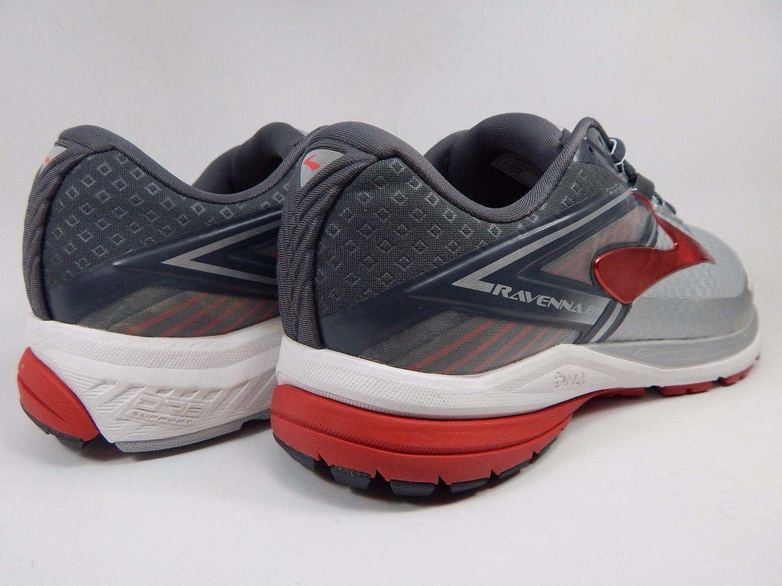 Brooks Ravenna 8 Men's Running Shoes Sz US 8.5 M (D) EU 4 Silver Red 1102481D067