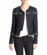 New Banana Republic Women's Fringe Boucle Jacket Navy Variety Sizes  - $69.99