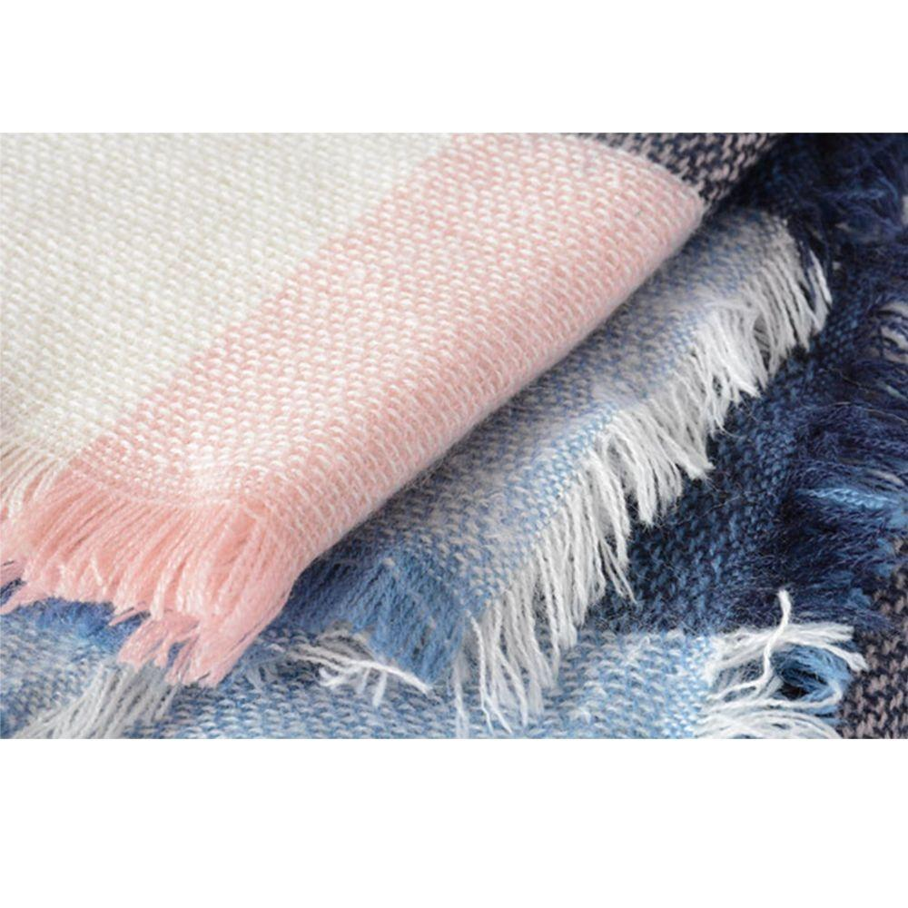 Hot Fashion Warm Cashmere Plaid Blanket Women's Warp Scarf Pashmina Shawl