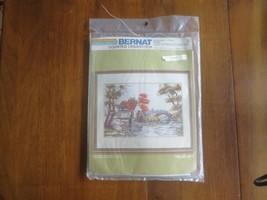 "Bernat CIDER MILL Counted Cross Stitch SEALED Kit - 11"" x 16.5"" - $9.90"