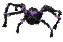 Spider Prop Hairy Poseable Furry Haunted House Halloween Scary Creepy JA91 - £23.51 GBP