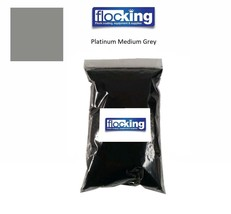 Platinum Medium Grey FLOCK FIBRES - Flocking Fibers - $2.99