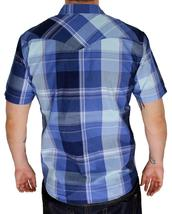 BRAND NEW LEVI'S MEN'S CLASSIC CASUAL BUTTON UP PLAID BLUE SHIRT 3LYSW6062-DBLU image 4