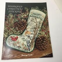 Woodland Christmas Stocking Pattern Book Stoney Creek - $9.74