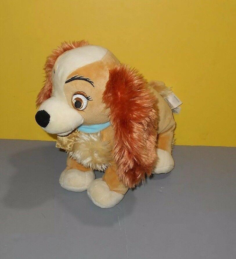 "Lady Tramp Plush Cocker Spaniel Puppy Dog Bean 12"" Stuffed Animal Disney Store image 7"