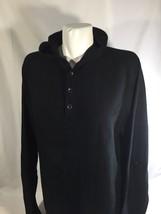 Banana Republic Women Black Button Up Hoodie Long Sleeve Stretch Size M Cotton - $12.19
