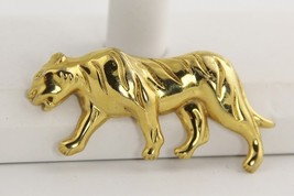 70s 80s VINTAGE Jewelry MONET GOLD METAL FIGURAL STALKING TIGER WILD CAT... - $10.00
