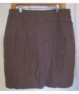 J. Crew Women Tailored Pencil Skirt size 10 Brown Tan 100% Linen Lined - $24.72