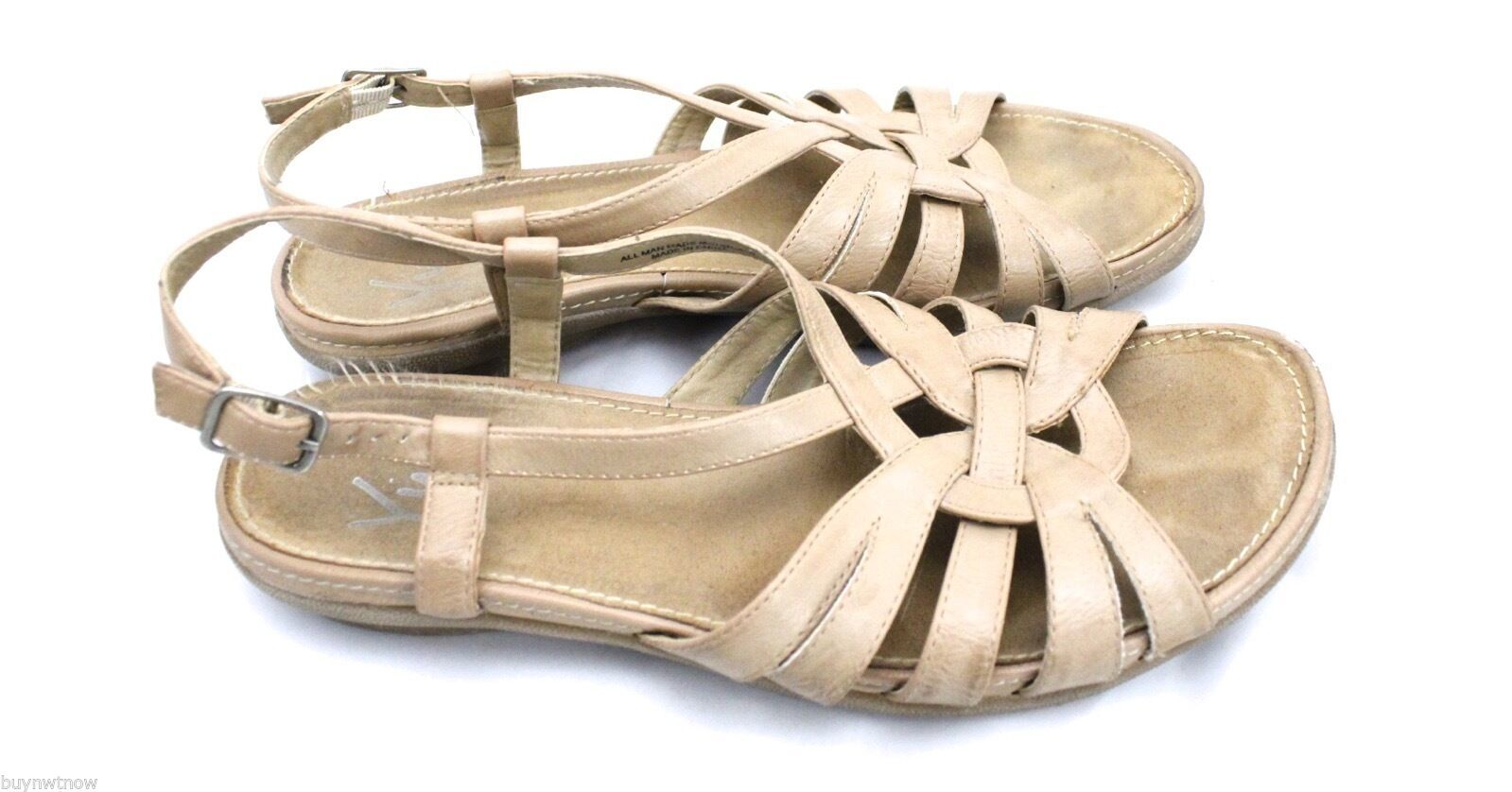 WOMEN'S YUU Alcan Sling-Back Sandals Nude 8.5 M Pre-owned image 2