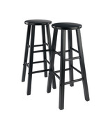 "Winsome Wood Contemporary Home 29"" Element Bar Stools, 2-Pc Set, Black - $87.78"