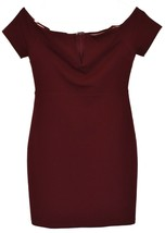 Lulus Women's Maroon Cheers to This Off-the-Shoulder Bodycon Dress Size S image 1