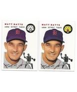 1954 Topps Archives Matt Batts Detroit Tigers #88 Gold & Regular 2Cards - $1.28