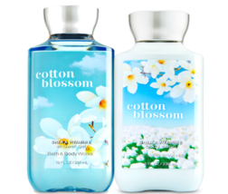 Bath & Body Works Cotton Blossom Body Lotion + Shower Gel Duo Set - $26.41