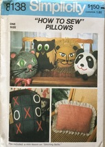 "Simplicity 8138  ""How To Sew"" Set of Pillows - $6.99"