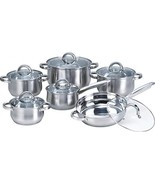 Heim Concept W-001 12-Piece Induction Ready Stainless Steel Cookware Set... - $75.63