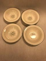 4 small bowls 6 in HOMER LAUGHLIN Vintage eggshell cavalier Celeste Blue grey - $45.53