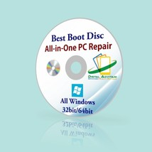 Windows XP Vista 7 8 10 Boot CD PC Repair Diagnose Disk Asus Lenovo Comp... - $11.39