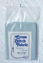 "Regency Mills 14 Count Lt. Blue Cross Stitch Aida Fabric 100% Cotton 12""... - $4.70"