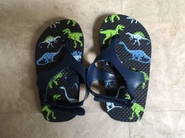 Toddler Boys Sandals Flip Flops Size 8-9 Velcro - $9.89