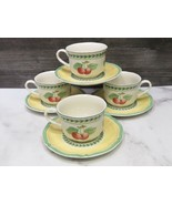 Villeroy & Boch French Garden Fleurence Breakfast Cup and Saucer-Set of ... - $98.99