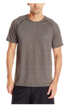 Adidas Mens Ultimate S/S Crew Neck T-SHIRT , Dark Grey , Large - $16.99