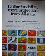 Vintage Allstate Deluxe Homeowners Insurance Print Magazine Advertisemen... - $5.99