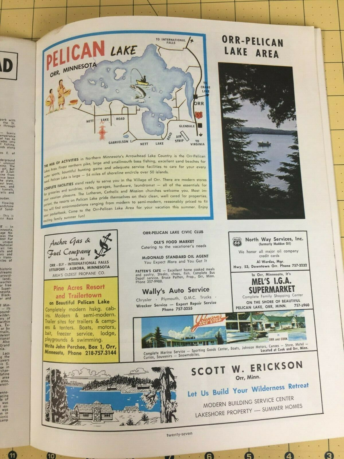 Vintage Minnesota Arrowhead Travel Vacation Magazine Advertisement 50' 60's image 5
