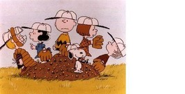 Peanuts Baseball Charlie Brown Vintage 11X14  Matted Color TV Memorabili... - $13.99