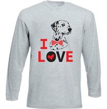 I LOVE DALMATANIAN DOG - NEW COTTON GREY TSHIRT - $20.84