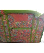 QK QUILTED PURSE, TOTE, BAG, PAISLEY DESIGN, LIME GREEN, 100% COTTON,  NWT - $14.40