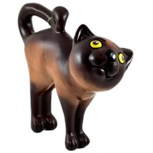 Communidad Winay Ceramic Brown Cat Kitty Kitten Figurine Handmade in Bol... - $27.71