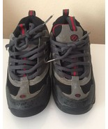 Vintage 90s Heely's Skate Shoes Youth Sz 6 Gray+Red+Black Skateboard  St... - $22.98