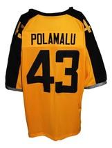 Troy Polamalu #43 Gotham Rogues New Men Football Jersey Yellow Any Size image 5