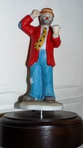 """Music Box Clown 7"""" Tall With Base RED Shirt Free Shipping - $22.02"""