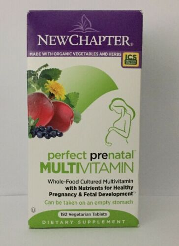 Primary image for (New) New Chapter Perfect Prenatal Multi Vitamin 192 Veg. Tablets