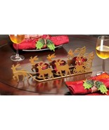 10015832 Christmas Collection Santa and Reindeer Candleholder - $9.34