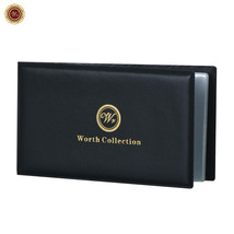 WR Banknote Album Currency Wallet Money Holder Leather /w 12 Transparent... - $8.82