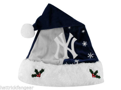 New York Yankees Forever Collectibles MLB Knit Fleece Santa Hat