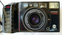Excellent Working Minolta AF-Tele Quartz Date Point & Shoot Camera From Japan - $45.00