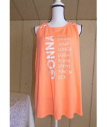 $32.00 Jessica Simpson Envelope Back Printed Tank Top, XL, Hibiscus - $14.50