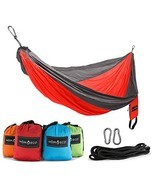 HŌMECO Double and Single Camping Hammock, Lightweight Nylon Parachute Tr... - £34.52 GBP