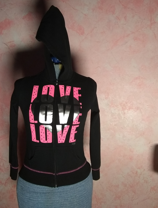 "Primary image for JUSTICE  ""Love Love Love"" Hoodie- Size 8"