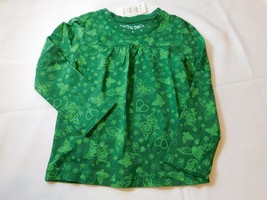 The Children's Place Youth Girl's Long Sleeve T Shirt Green Hearts Flowe... - $24.99