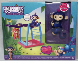 WowWee Fingerlings Naima Glitter Monkey and Bar Playset RARE Exclusive NEW - $59.39