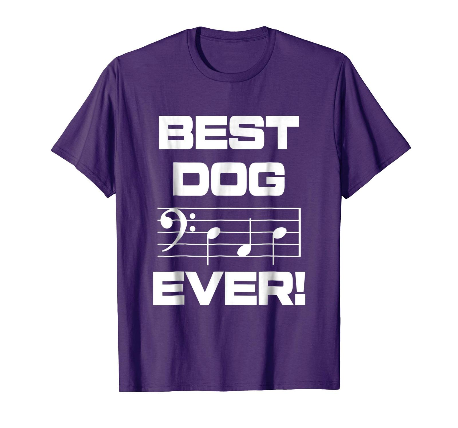 Brother Shirts - Mens Best Dog Dad Ever Music Shirt Notes Funny Fathers Day Men